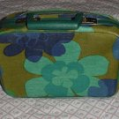 Flower Power vintage make-up case Luggage Vanity traincase Cosmetic Case