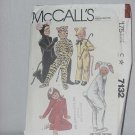 McCalls 7132 Boys Girls Animal Costumes Size 4 No. 86