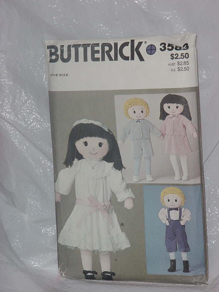 Butterick 3583 One size Boy Girl doll uncut pattern 146