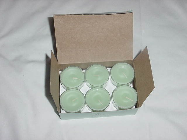 Partylite green candles 12   No. 148