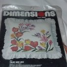 Needlepoint Kit Tulips and Lace Dimensions Cross Stitch Pillow Case Kit Unopened  No. 148