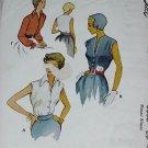 McCall's Vintage blouse pattern 8053 Size 16 Bust 34 Misses Blouse  No. 154
