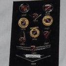 Cadillac Anniversary emblem logo set 100th anniversary stick pin collectible 2002 set No. 154