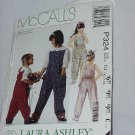 McCall's Children's Girls Jumpsuit Size 10, 12, 14 Laura Ashley Uncut No. 161