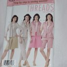 Simplicity 4502 Threads Collection Misses/Miss Petite Lined Jacket Vest Pants Shorts Skirt No. 161