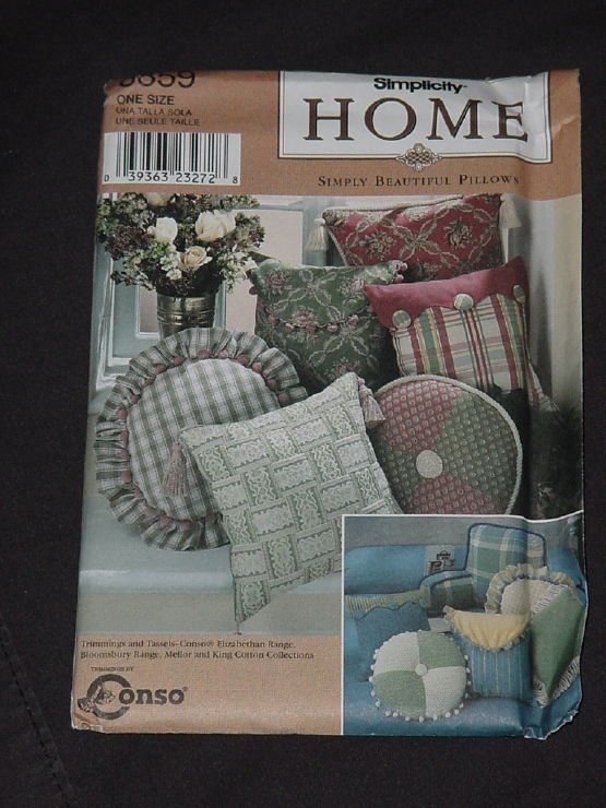 8859 Simplicity Pillow package  Bed Rest Pillow Cover, Envelope Pillow Cover