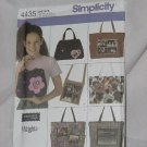 Simplicity 4435 Bags, Satchels One Size  No. 165