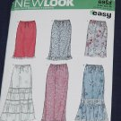 New Look Simplicity Pattern 6953 Summer Skirts No. 165
