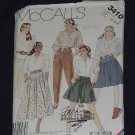 McCall's skirts Culottes Pants 3410 Size 20 22 24 No. 165