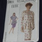 Simplicity 9062 BBW Size 22W Women's Dress Peplum No. 165