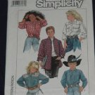 Simplicity 8365 Boys' or Girls' loose fitting shirt No. 165