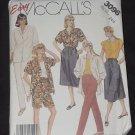 McCall's 3096 half size shirt top skirt pants shorts No. 165