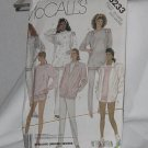 McCall&#39;s 3233 unlined jacket top pants shorts stretch knits only Ex Large No. 165