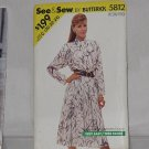 See & Sew 5812  Pullover Dress Size C 20-22-24 No. 165
