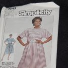Simplicity Easy to Sew 7443 Pullover Dress Size 12 14 16 No. 167