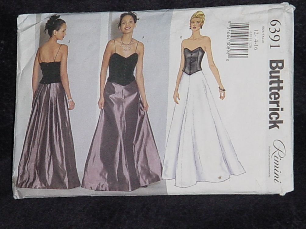 6391 Butterick Petite Top Skirt Rimini Size 12-14-16 No. 167