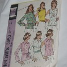 3550 McCalls Blouses Tops  from 1973 Uncut Vintage Pattern No. 167