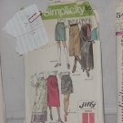 Simplicity Jiffy 9099  Skirts varied lengths Size 18 No. 167