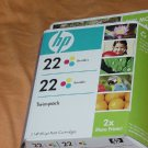 HP 22 Tri-color Ink Cartridges Twin Pack Expiration date March 2011