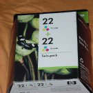 HP 22 Tri-color Ink Cartridges Twin Pack Expiration date October 2011