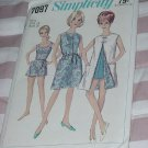 Simplicity 7097 Vintage size 18 Dress or beach coat Bathing suit with panties No. 167
