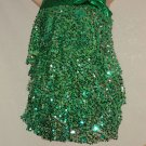 Green Silver Small Sequin Bangled Dance Costume Size XLC Recital Jazz Tap Hip Hop Costume  No. 171