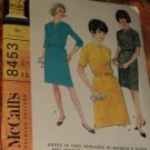 Original Uncut McCalls Pattern 8453 Size 20 1/2  Bust 41 Dress Two Variations No. 174