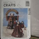 McCalls crafts pattern 9070 Homespun at Heart Designs Wintery Welcome Snow man Snowwoman  No. 174