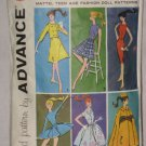 Doll Clothes Original Advance Pattern 6 patterns Group B No. 174