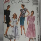 McCall's uncut two piece dress size C 10-12-14 pattern 5301 No. 174