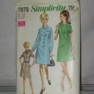 Vintage Simplicity Sewing Pattern 7879  Bust 35 Half size 12 1/2 no. 178