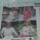 McCalls Sewing Pattern 6373 Womens size B  8 10 12 Tops Blouses Woman&#39;s Day Collection 178