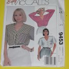 McCalls Sewing Pattern 9453 Womens Size B  8-10-12 Blouse No. 178