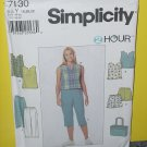 Simplicity Sewing Pattern 7130 size Y 18,20,22 Top Pants Shorts Bag No. 178