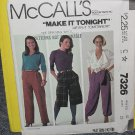 McCalls Sewing Pattern 7326 Womens Size 10 Pants  No. 178