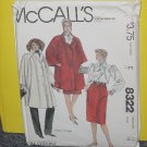 McCalls Sewing Pattern 8322 Womens Size E size 12 Pants  No. 178