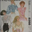 McCalls Sewing Pattern 8358 Size 12 Misses Blouse No. 178
