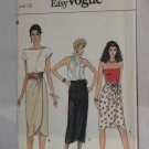 Vogue 8683 Very Easy Very Vogue Sewing Pattern Size 12 Misses' Skirt Belt  No. 178