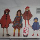 Butterick Sewing Pattern 3581 Girls Size 7, 8, Cape Hat 10 No. 178