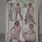 Simplicity Sewing Dress Top Pants Skirt Shorts Jacket Pattern 7935 Size H-6 8 10 No. 178