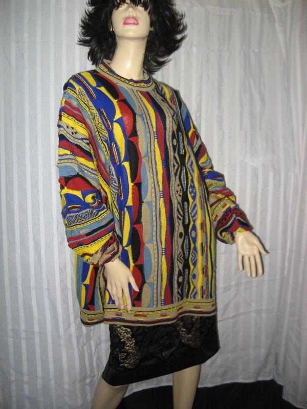 Mens Sweater XL Fall Winter Sweater Crew Neck Bright Colors   No. 160