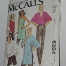 McCalls 6384 Misses Set of Tops Pants 70s pattern size small No. 184