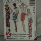 Mock Sarong Skirt Pattern McCalls 6503  No. 184