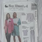 6400 Busy Woman Sewing Pattern Size E 14, 16, 18 Unlined Jacket, Top Pants Shorts No. 185