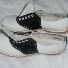 Black White Oxfords 8 1/2 RR retro 60s Rockabilly Rock n Roll Shoes No. 185