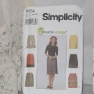 Simplicity Sewing Pattern 8664 size U 16,18,20 Misses' Skirt 6 Made Easy No. 187