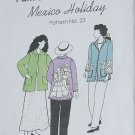 Park Bench Pattern Co Mexico Holiday Pattern 23 Coat Jacket All Sizes  No. 60