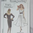 Simplicity 8491 Easy to Sew Dress Stretch Knits Shawl collar Size N 10-12-14 UnCut  No. 189