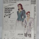5231 Jackets McCall's Palmer Pletsch Designer Details Made Easy Size 14  No. 187