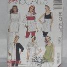 5477 Tunics McCall's Easy tunics blouses Size 14, 16  No. 187
